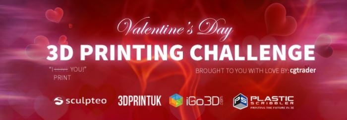 Who's the winner of the Valentine's Day 3D Printing Challenge?