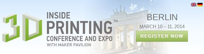 Come see us at Inside 3D Printing Berlin next week