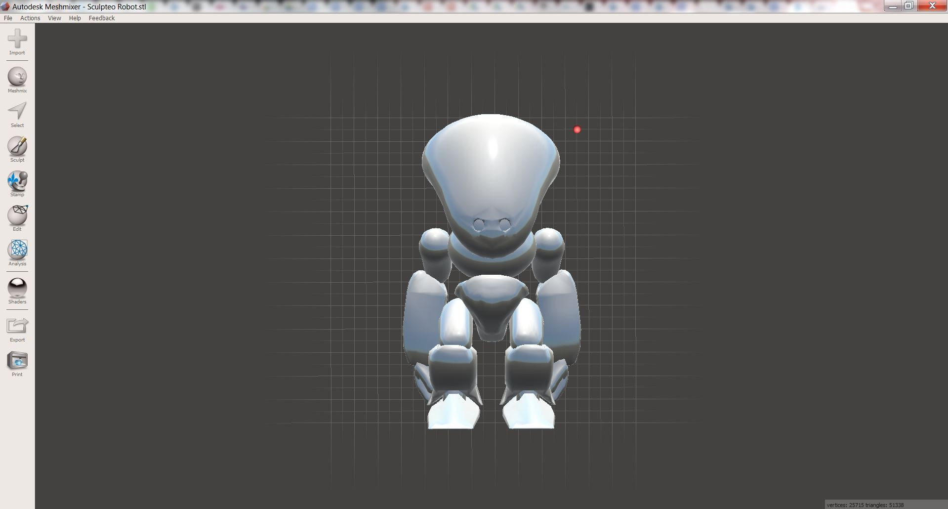 3D Print your creations directly from Autodesk Meshmixer