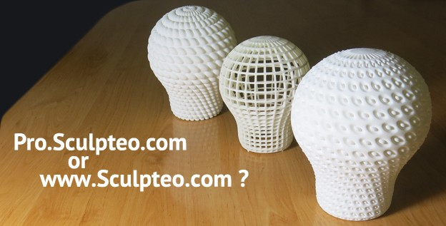 The difference between Sculpteo.com & Pro.Sculpteo.com