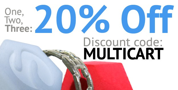 20% Discount on orders of three or more!!