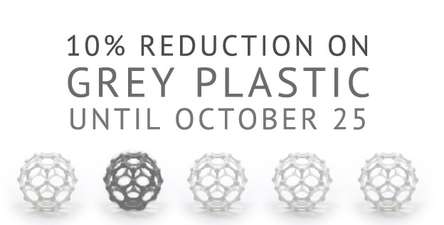 Receive 10% Off All Grey Plastic 3D Prints!