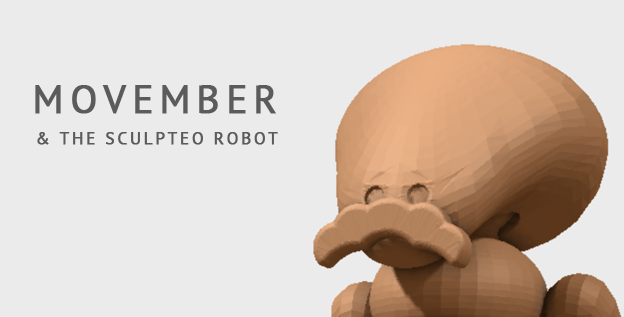 Meshmixer, Movember and the Sculpteo Bot