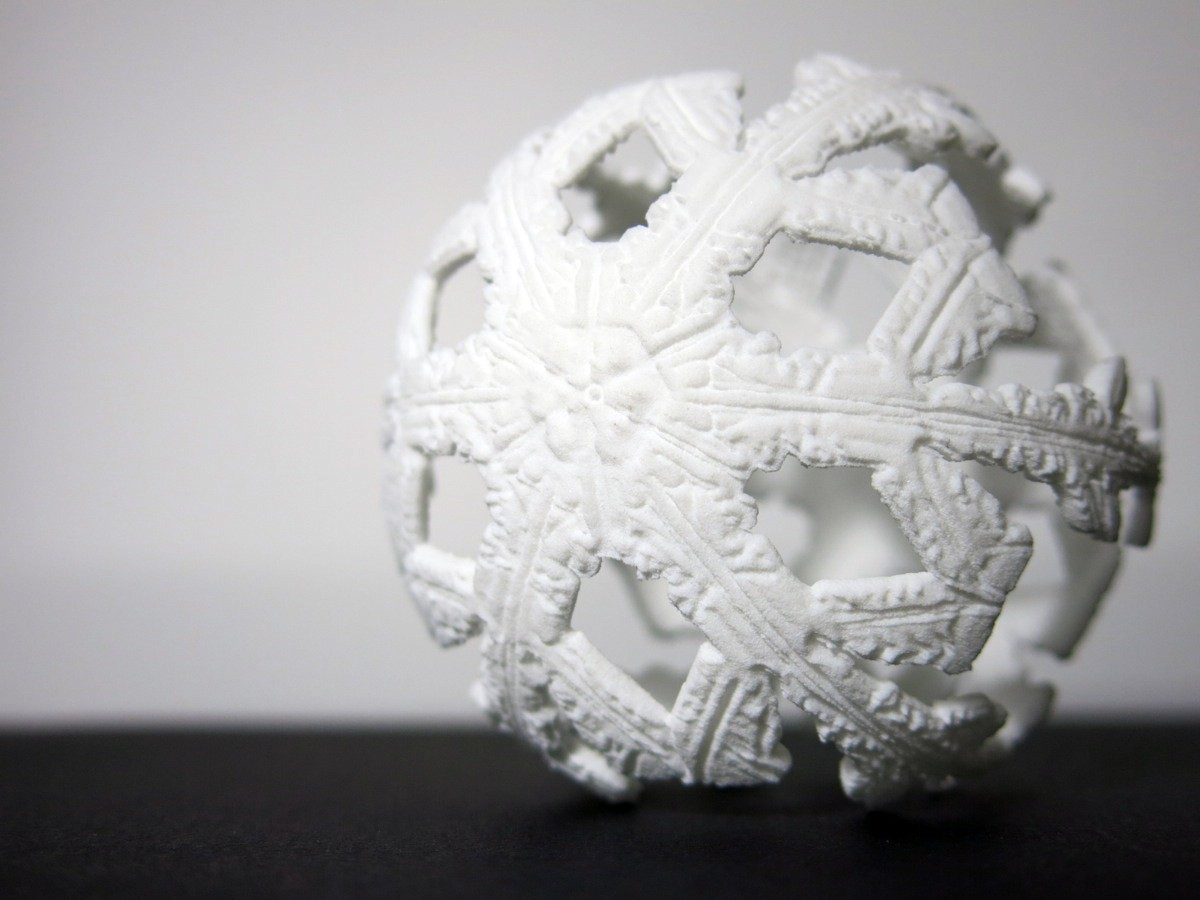 Printing Microscopic Snowflakes in 3D