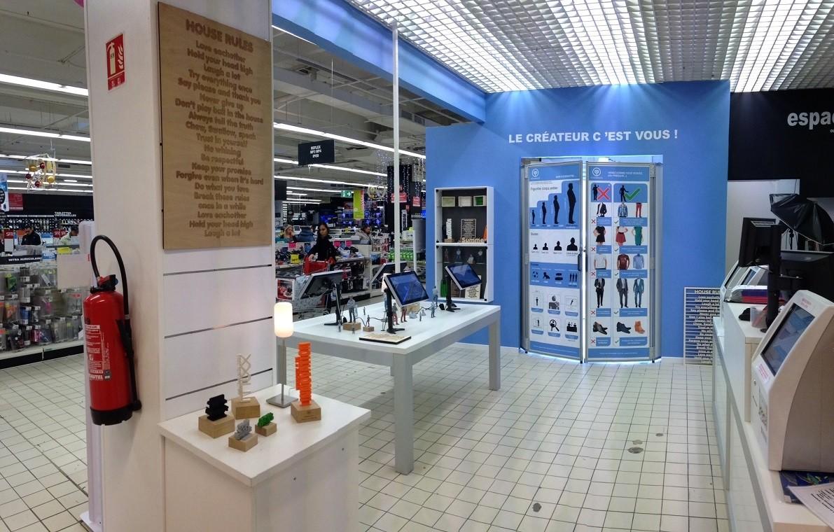 Yoomake Booth 3D Printing Auchan