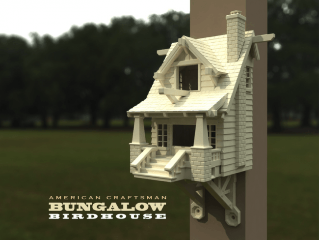 american craftsman bungalow birdhouse pinshape mrmegatronic
