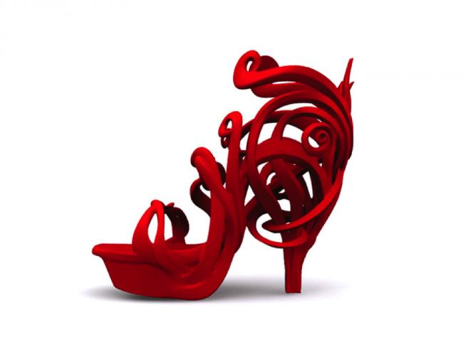art nouveau shoe Genghis pinshape