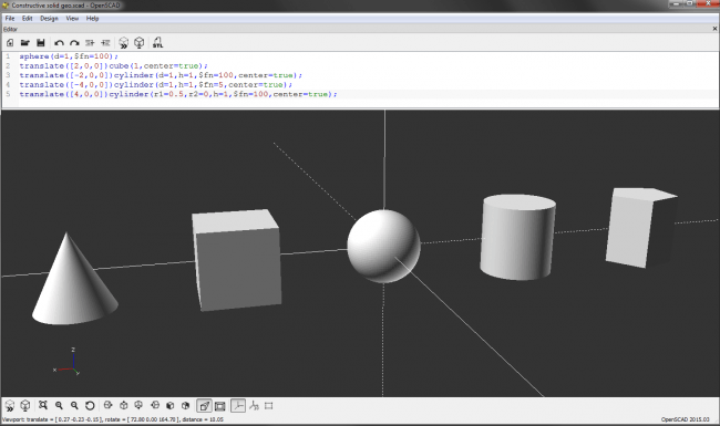 openscad constructive solid geometry primitives