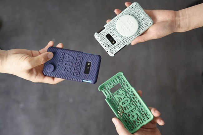 KDDI 3D printed case designs