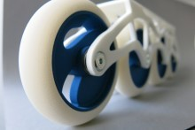 Close up on 3D printed wheel in TPU (polyurethane) by Sculpteo.JPG
