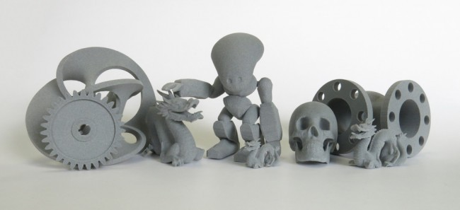 Gray SLS 3D printed Objects