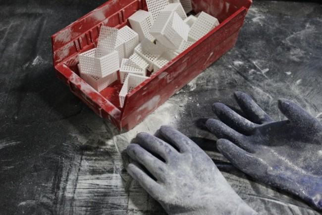 gloves and powder