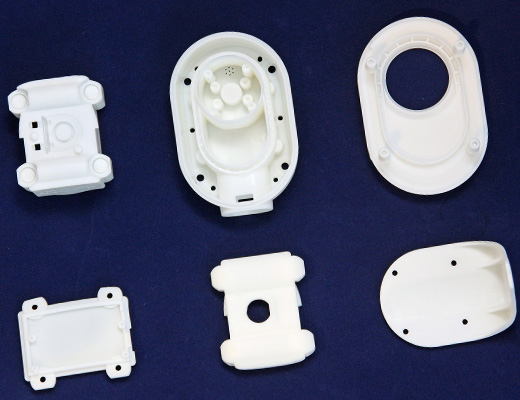 3D printed CLIP Parts in white