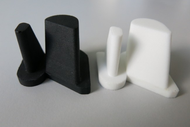 a urethane casted part and its 3D printed master