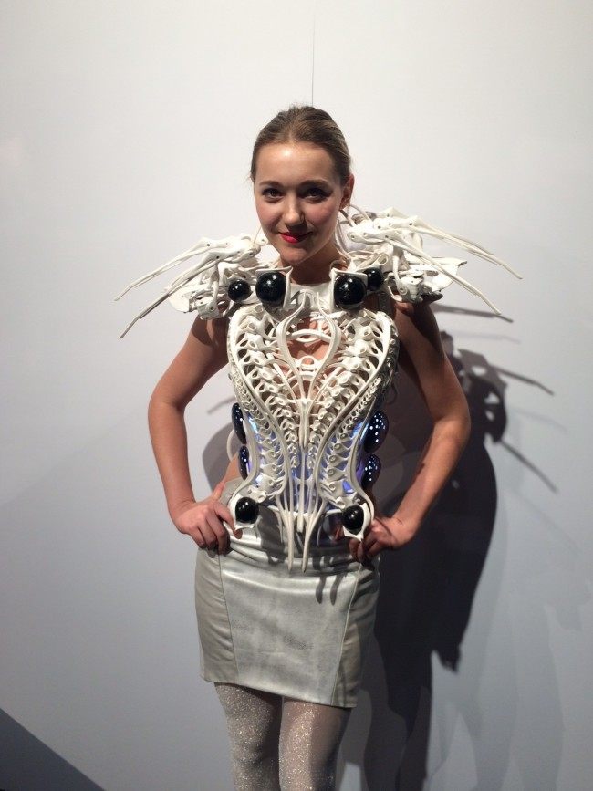 Anouk Wipprecht 3D printed item at RAPID