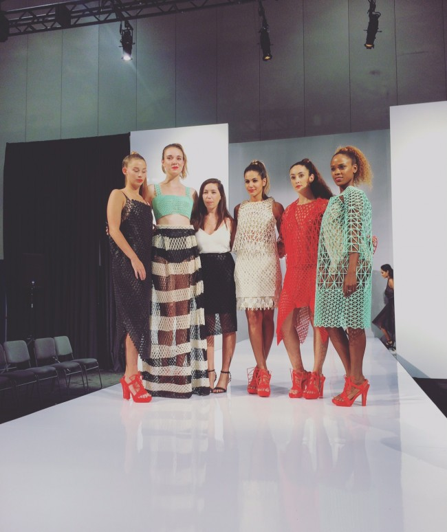 Danit Peleg and her models at RAPID