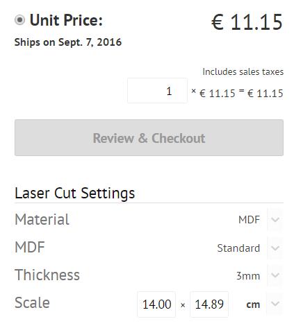 Laser cutting price