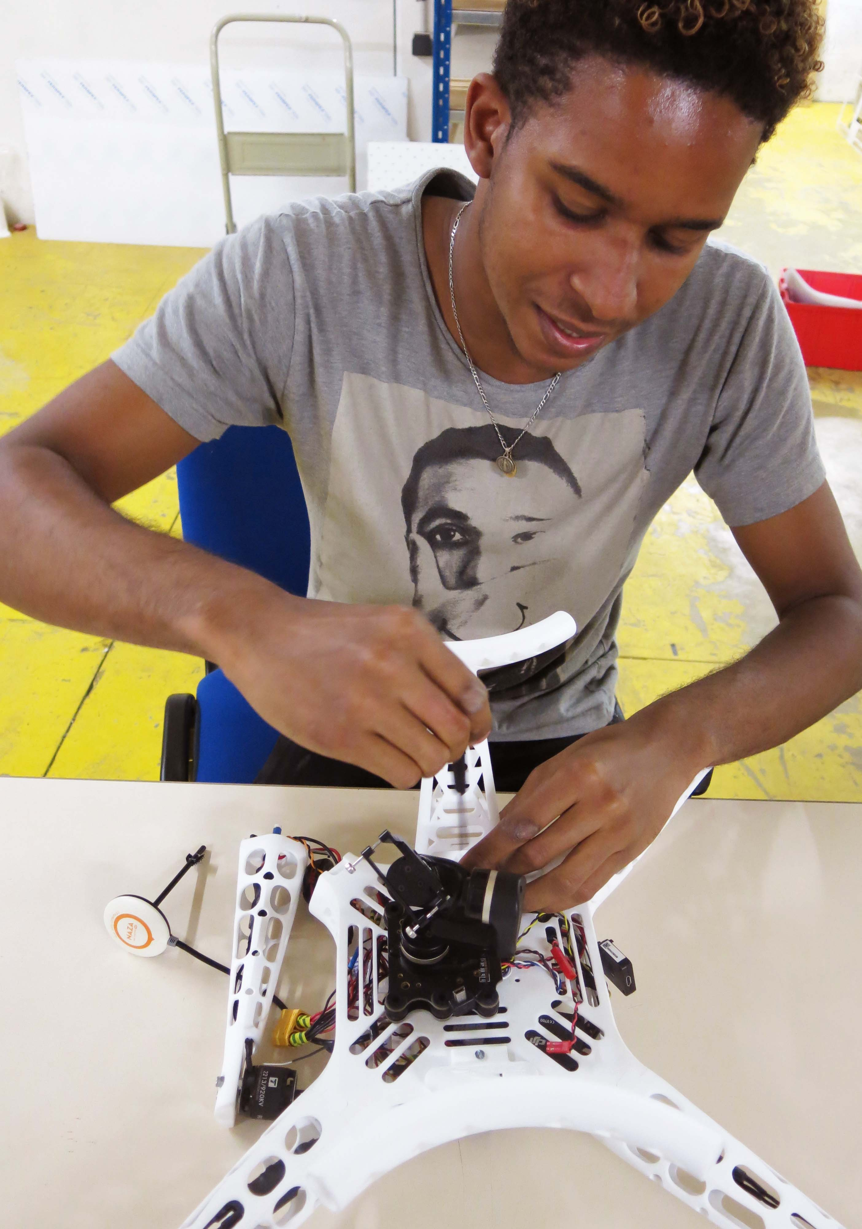Alexis and his 3D printed drone