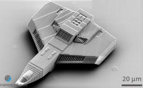 Nanoscribe's 3D printed nano plane