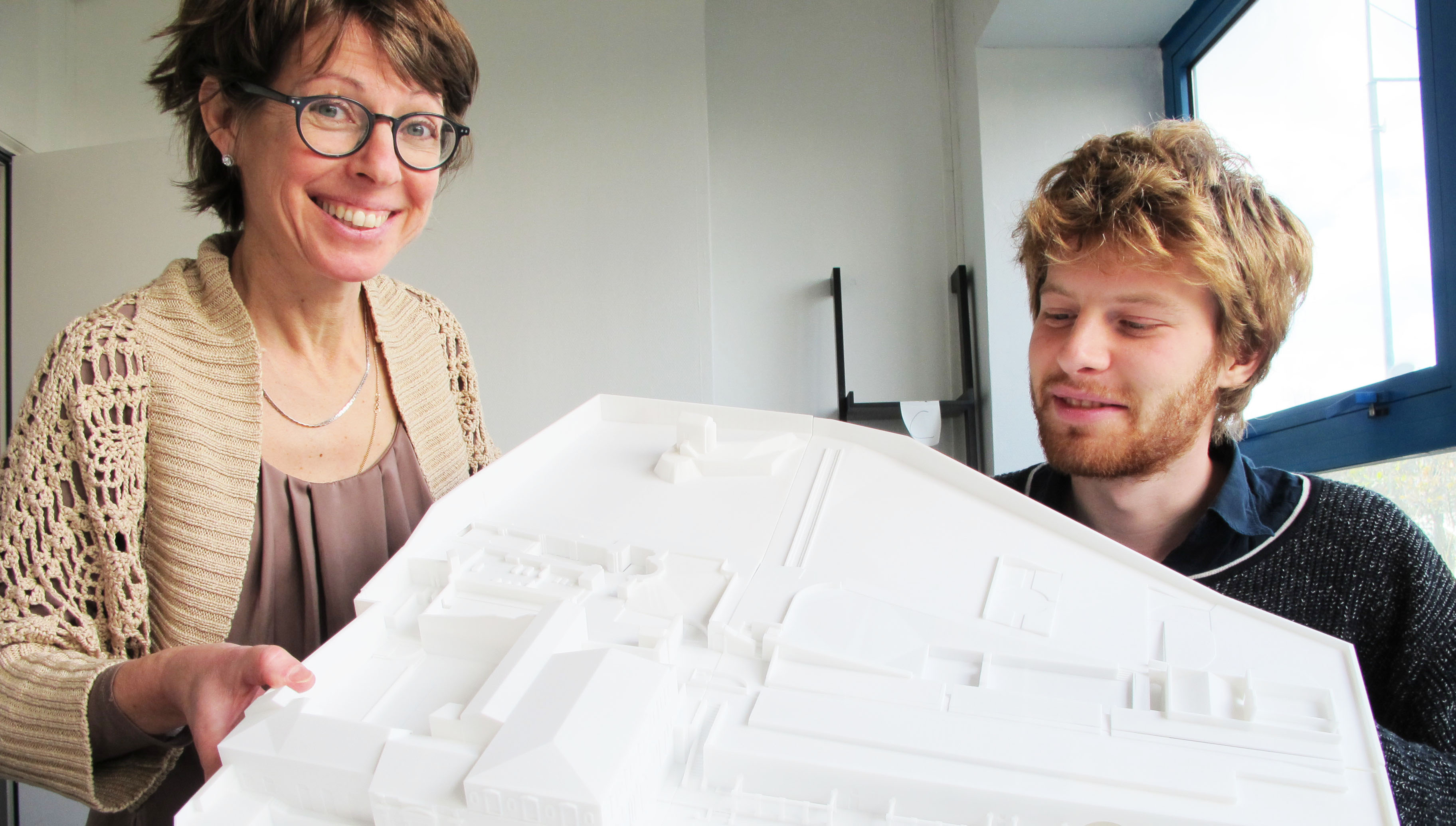 3D Printed Cultural Heritage: an abbaye model for the visually impaired