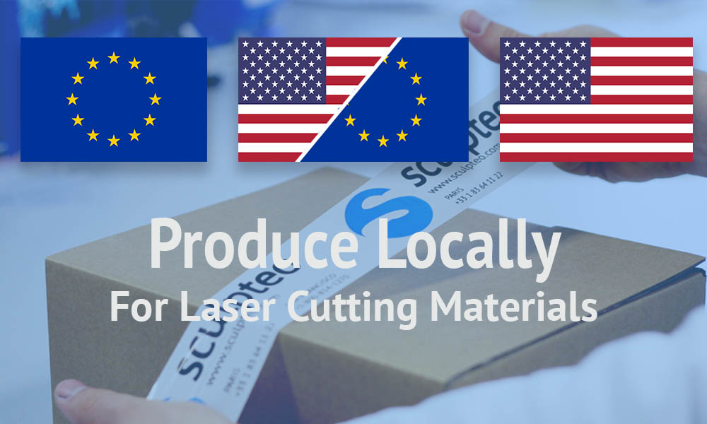 Laser cut local production center Sculpteo