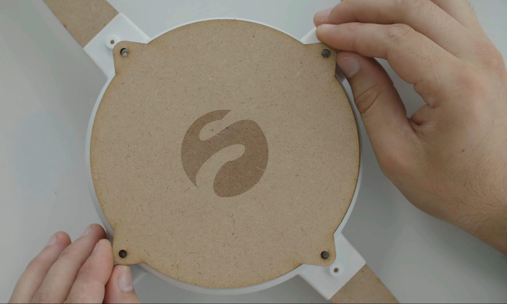 large logo drone mdf Sculpteo