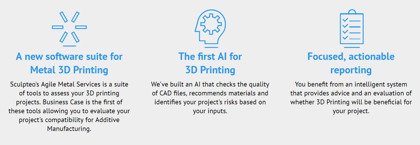 Metal 3D Printing business case Artificial intelligence