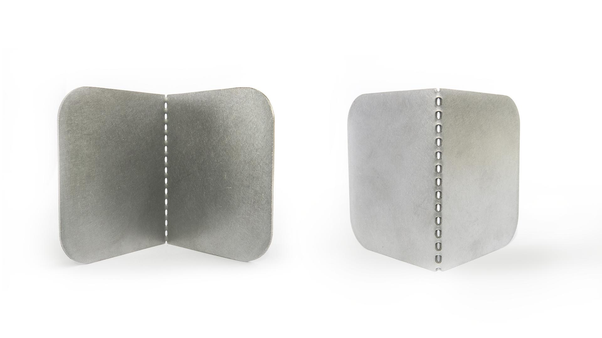 Inside / outside comparison of the folded metal laser cut part