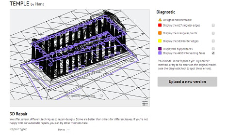 Online Repairing Tools: Diagnose and Fix Your 3D Models.