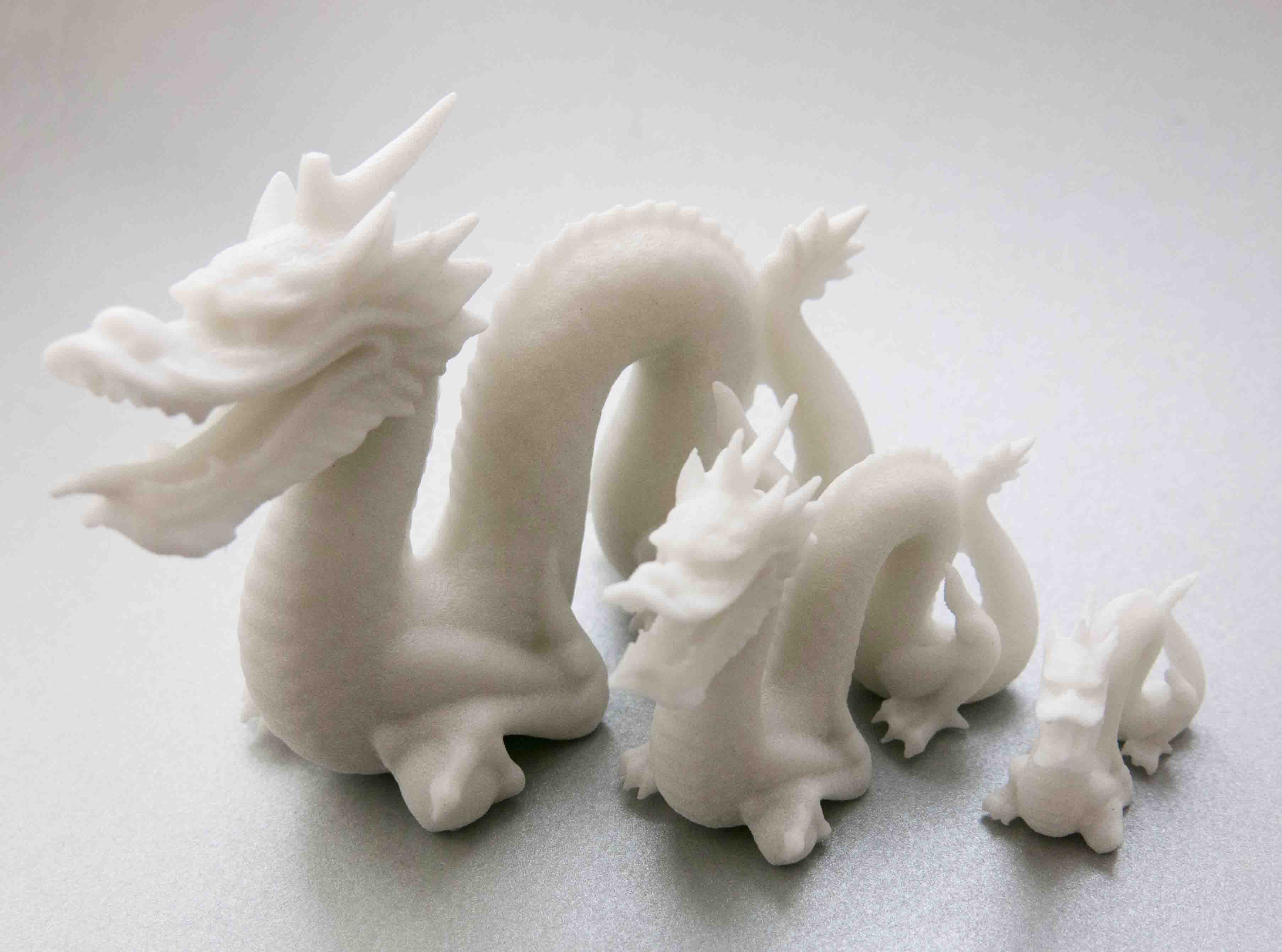 3D printed dragon with Glass-Filled Nylon