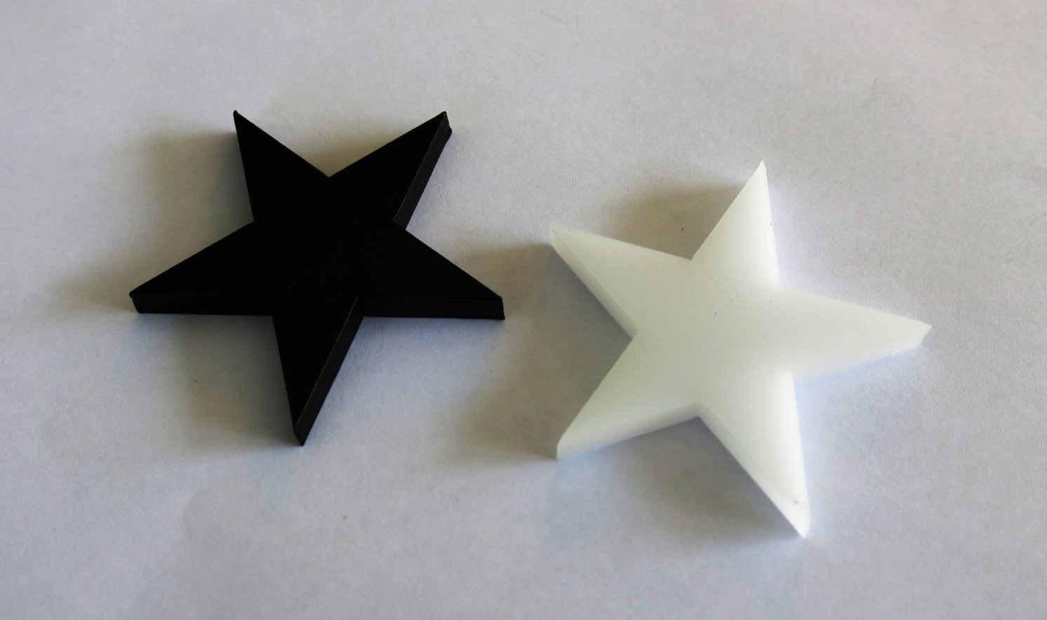 Laser Cutting POM material Black and White