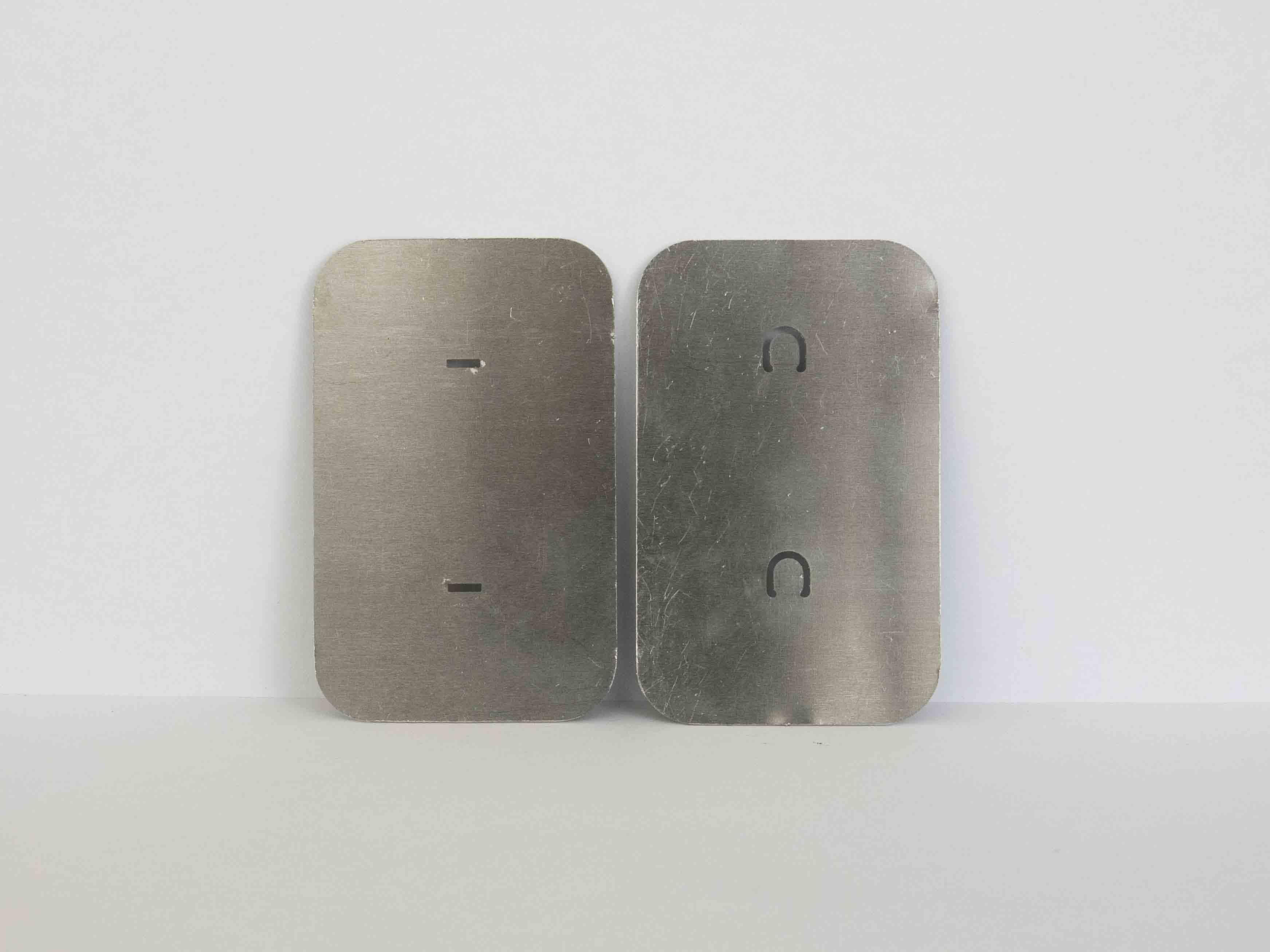 laser cut metal fastening simple untied