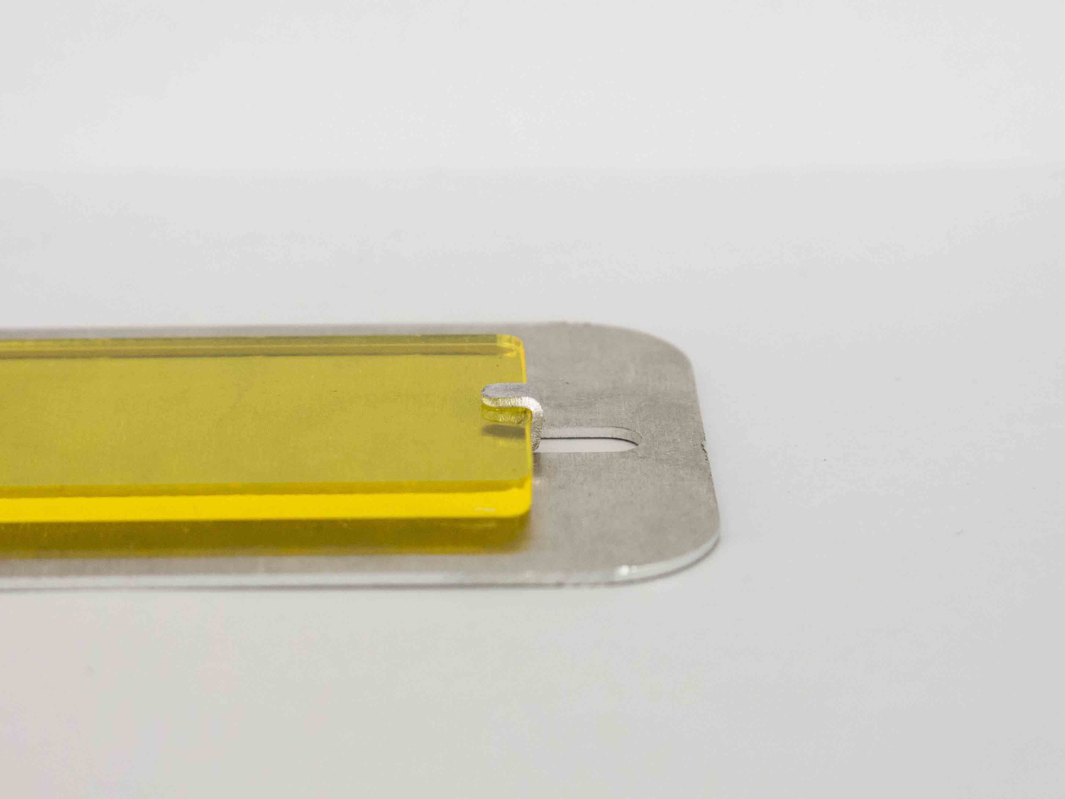 laser cut metal fastening multi material side