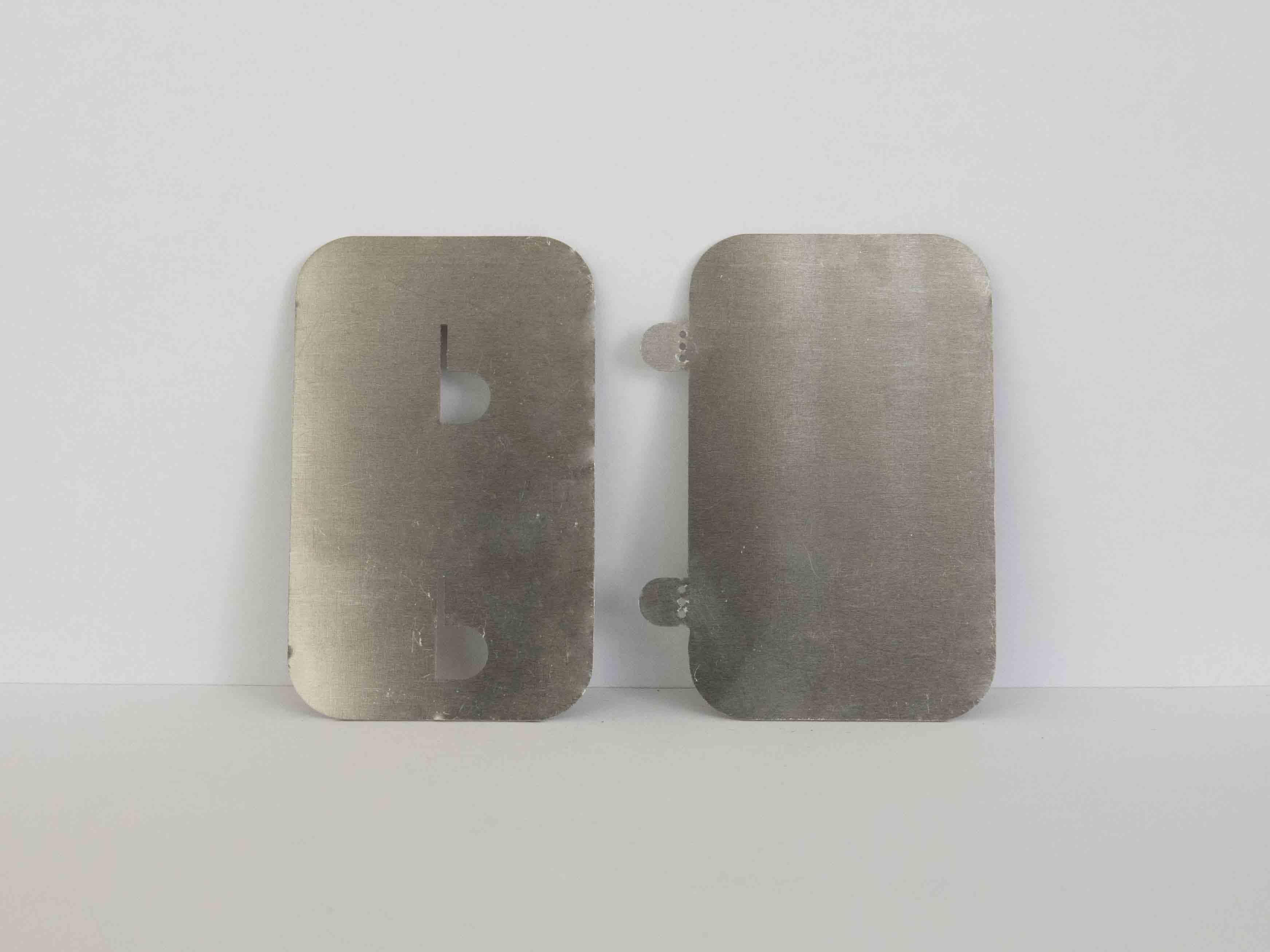 laser cut metal fastening slide