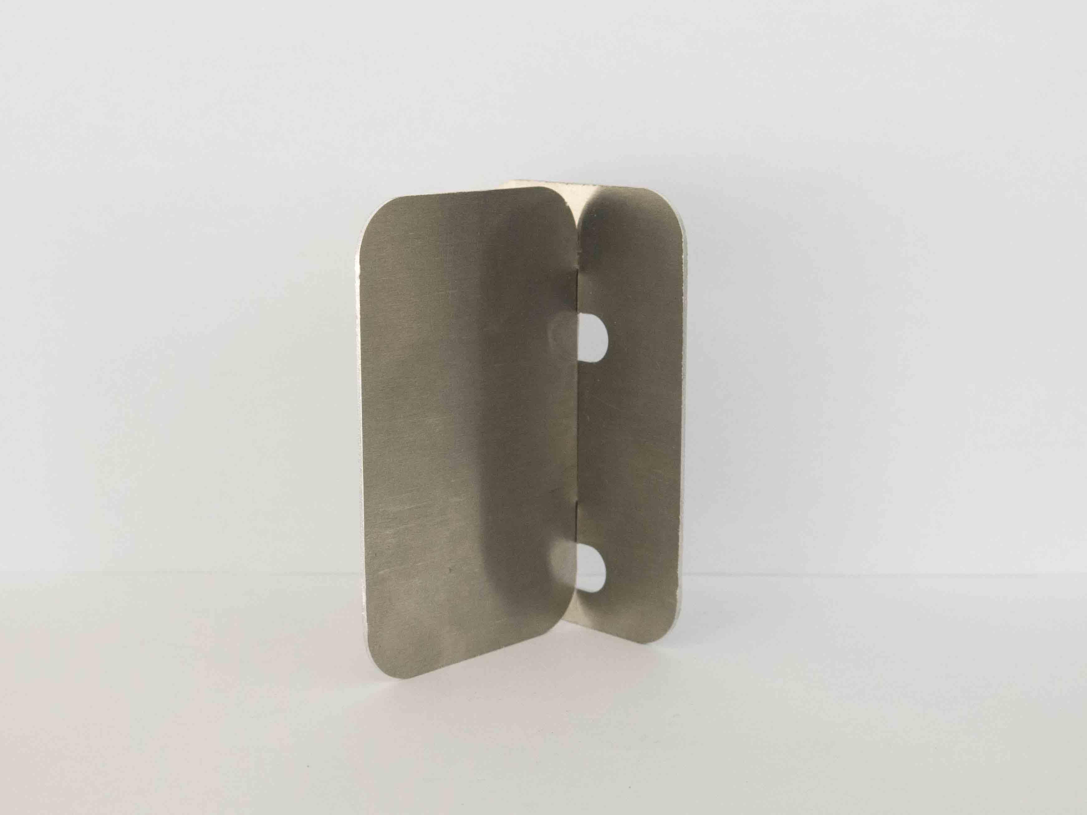 laser cut metal fastening clips side