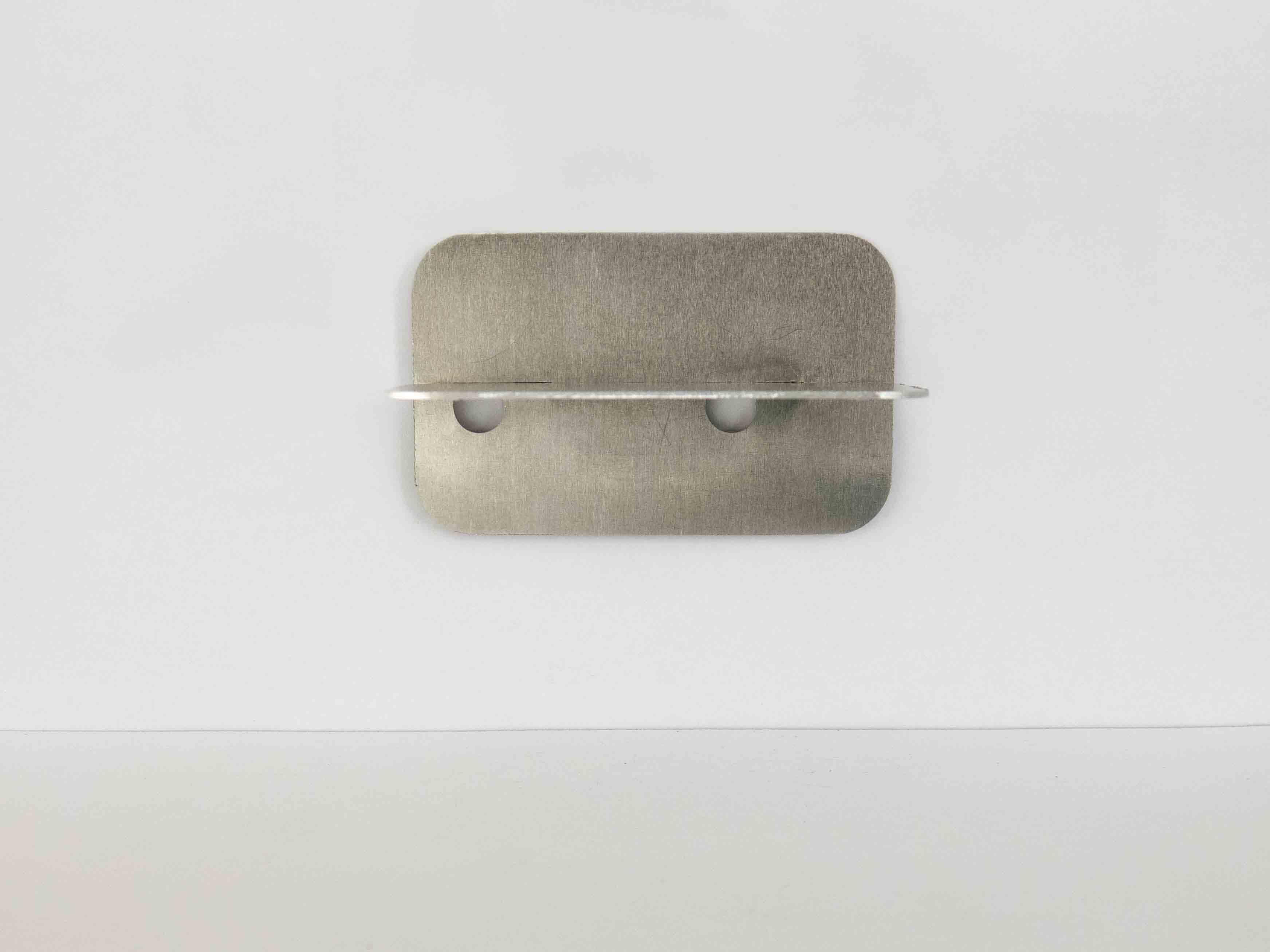 laser cut metal fastening clips wall