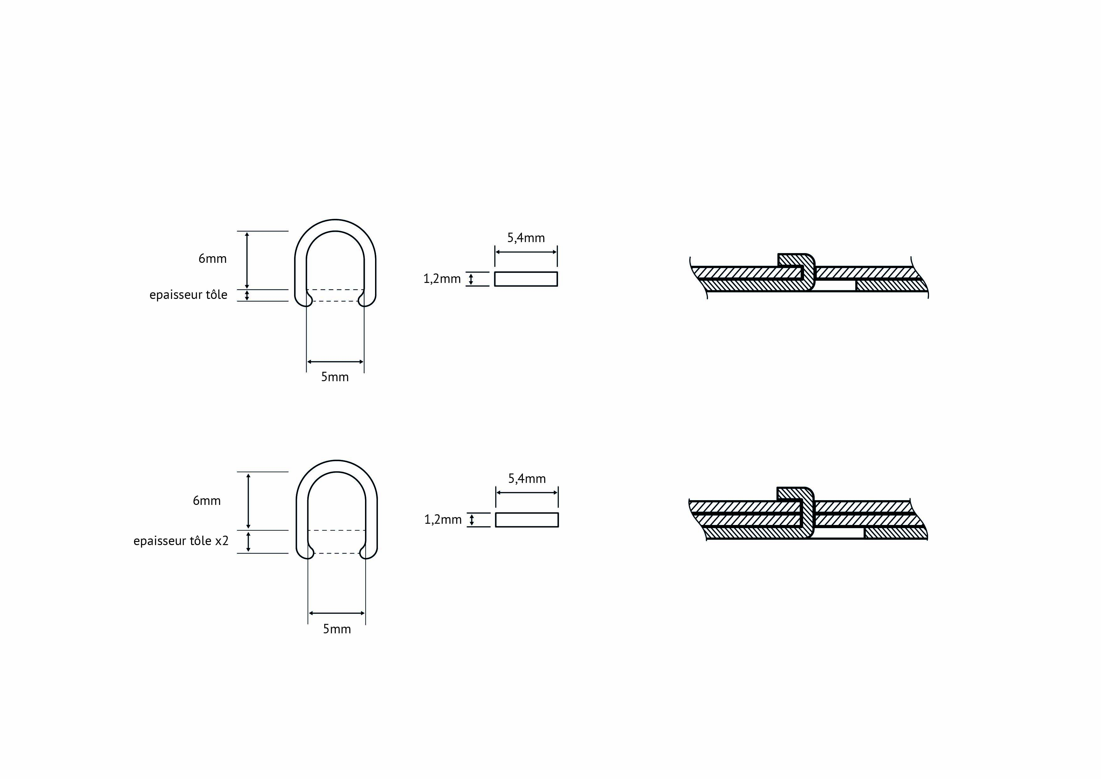 laser cut metal fastening dimensional drawing
