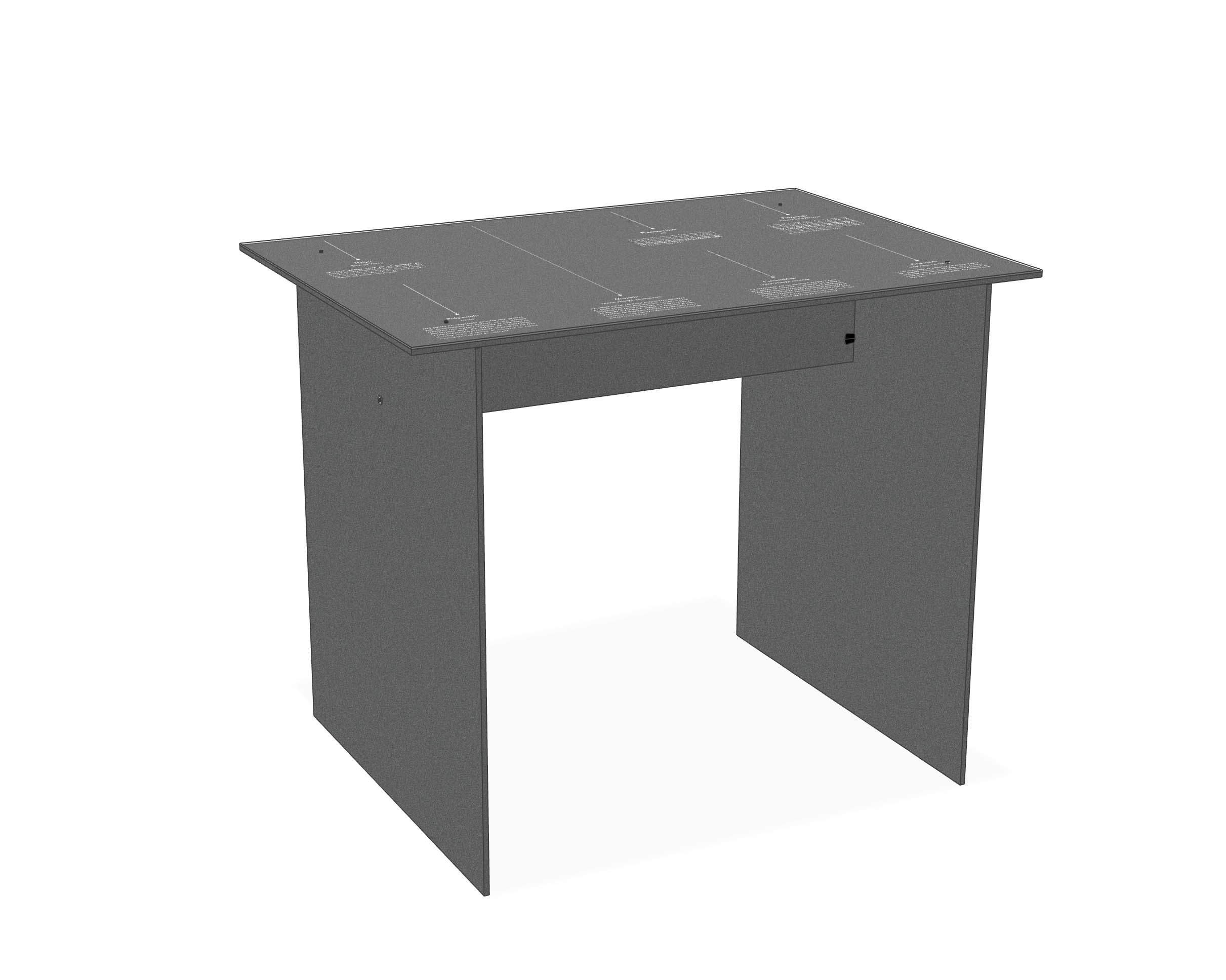 Tables with Laser cutting and laser engraving