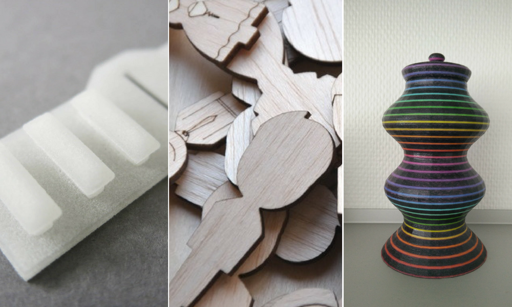3D printing material simulation to 3D print rubber, wood, etc.