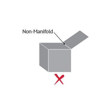 non-manifold error