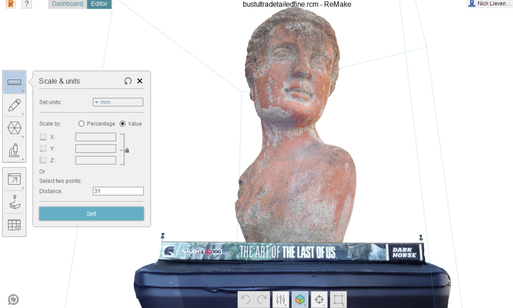 Making a 3D scan with a smartphone