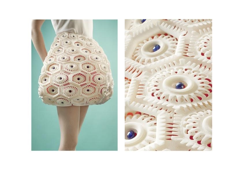 3D printed clothes by the fashion designer Anastasia Ruiz