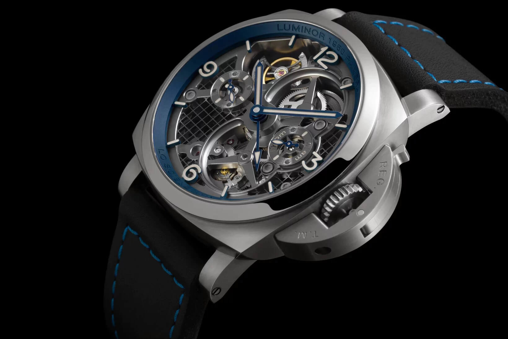 CREDIT: PANERAI LO SCIENZIATO LUMINOR 1950 TOURBILLON GMT TITANIO