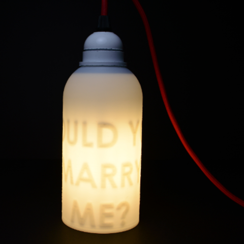 The Secret Personalized Message Lamp