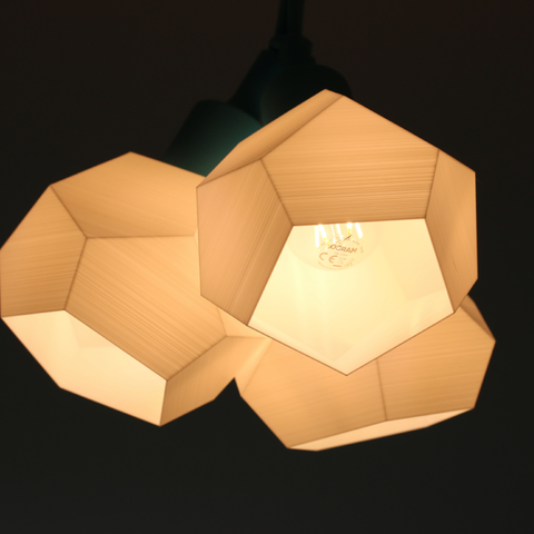20 incredible 3d printed lamps to brighten up home decor customizable geometrical 3d lamp greentooth Choice Image