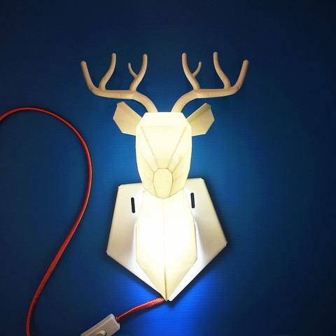 3d printed deer lamp