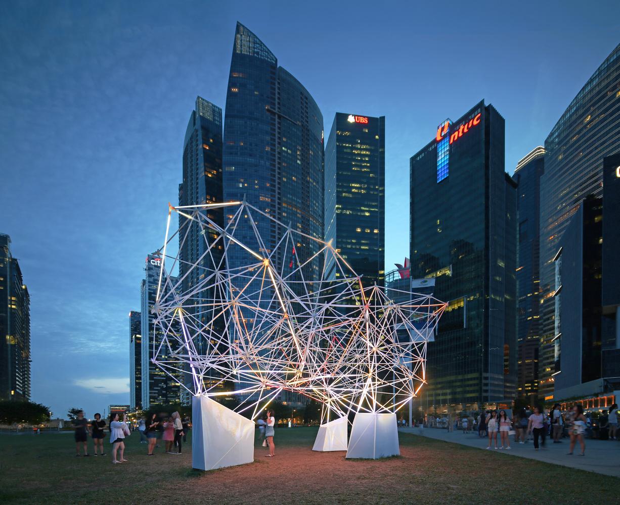 Parametrically designed Illuminated 3D printed Installation