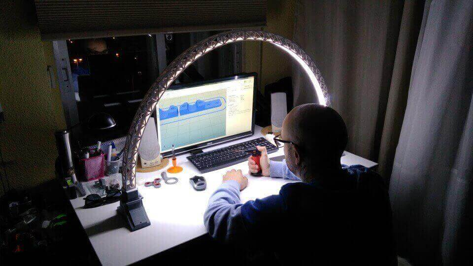 3d printed bridge lamp