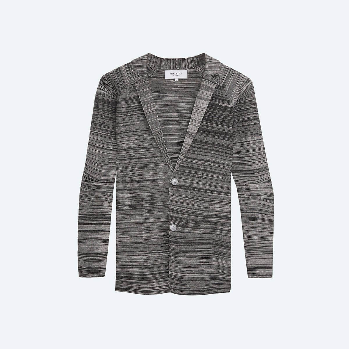 credit: https://ministryofsupply.com/products/mens-3d-print-knit-blazer-barcode