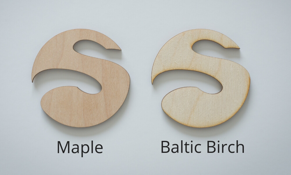 baltic birch laser cutting maple